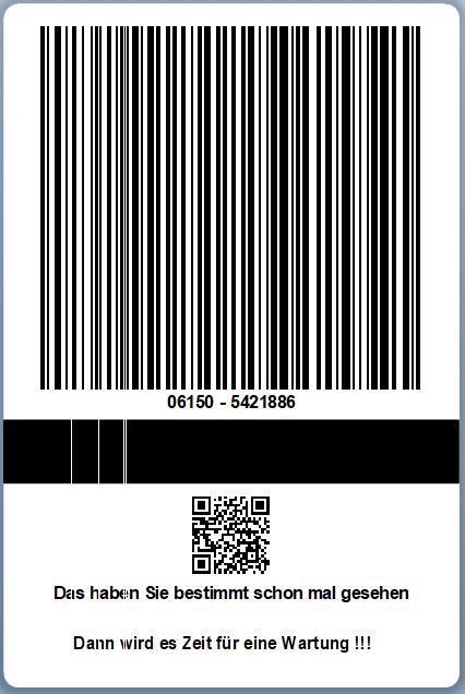 Wartung Etikettendrucker