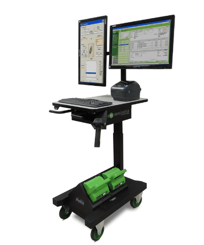 Mobiler Arbeitsplatz der APEX-Serie mit Wechsel-Akku-System