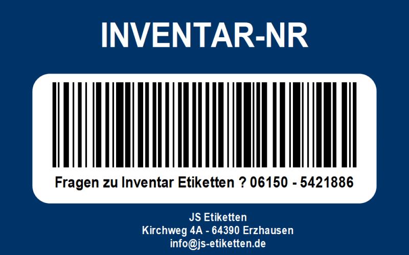 Inventar Etiketten
