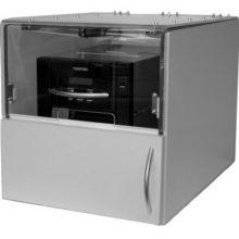Staubschutzgehäuse für Etikettendrucker mit Clam-Shell Design